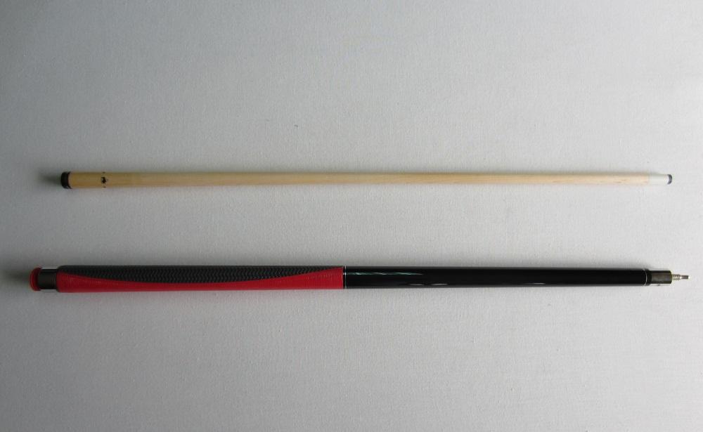 Taco Pool Buffalo metalizado c/ grip vermelho - 13 mm