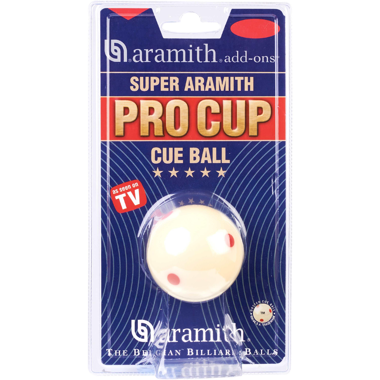 Bola Branca Super Aramith Pro Cup 57,2mm (c/ 6 pintas vermelhas)