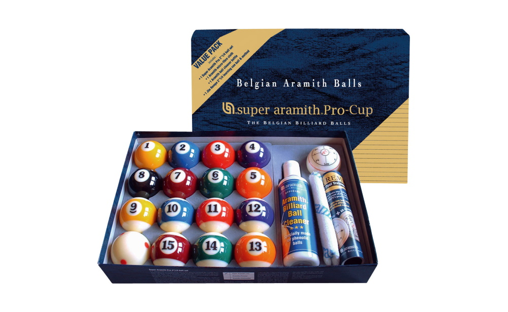 Kit Bolas Pool Super Aramith Pro - Cup 57,2mm