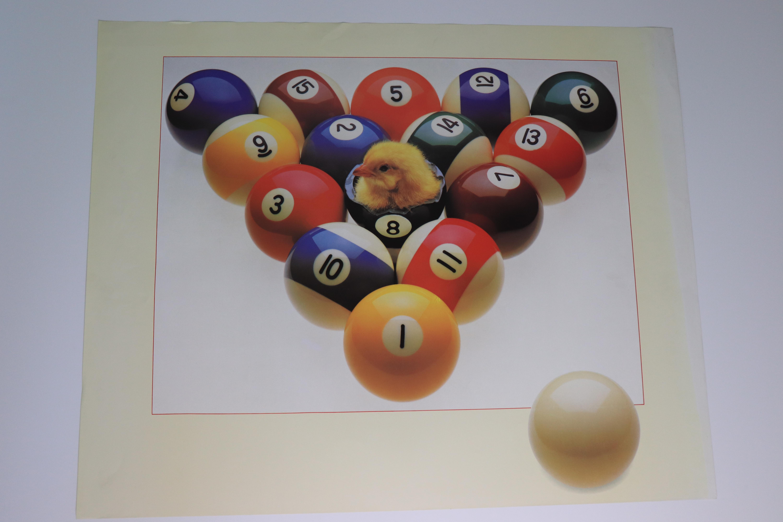 "Poster ""Chicken 8 Ball"""