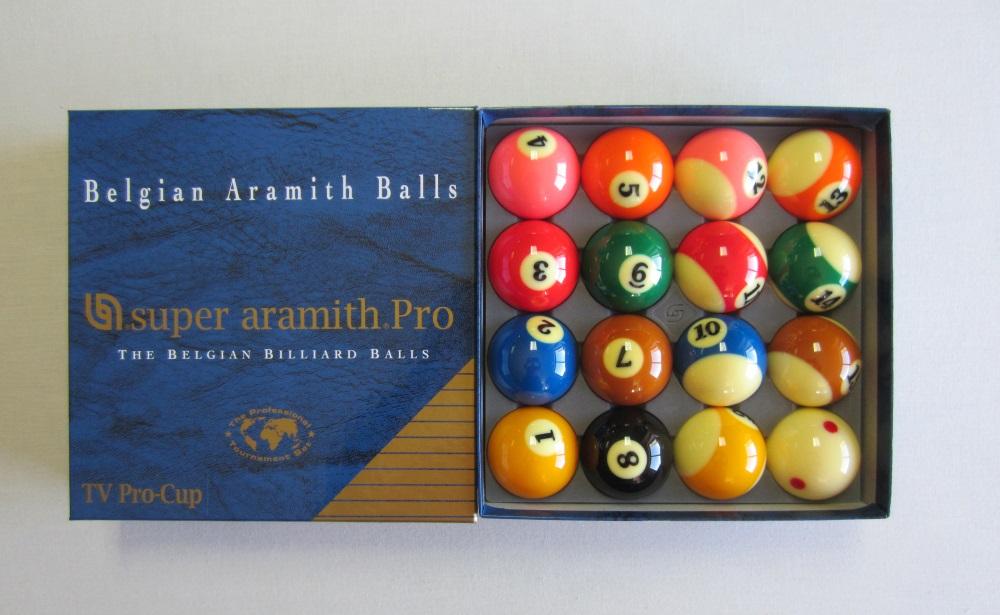 Jogo Bolas Pool Super Aramith Tv Pro-Cup 57,2mm