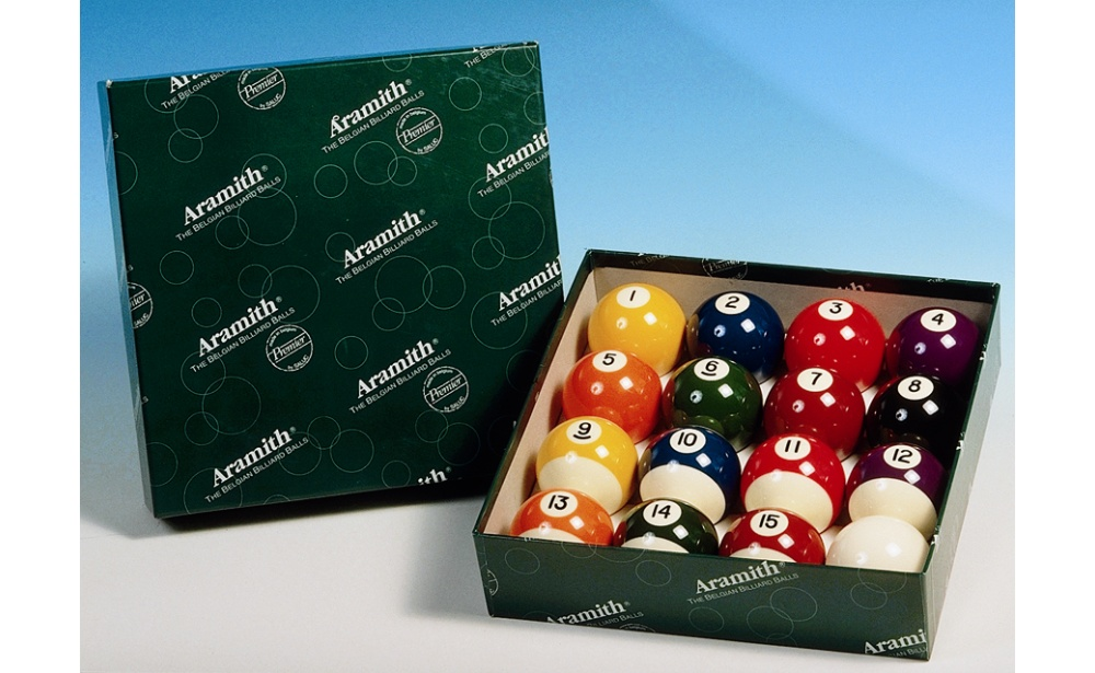 SET OF BALLS POOL (16) ARAMITH  57,2MM
